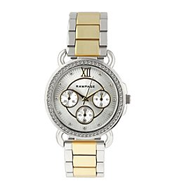 Rampage® Two-Tone Crystal Bezel Chrono Watch