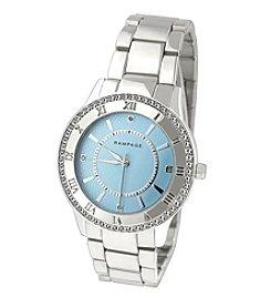 Rampage® Silvertone Crystal Bezel & Roman Numeral Accent Bracelet Watch