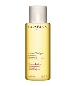 Clarins Toning Lotion With Chamomile For Dry Or Normal Skin Luxury Size 13.5-Oz. (A $50 Value)