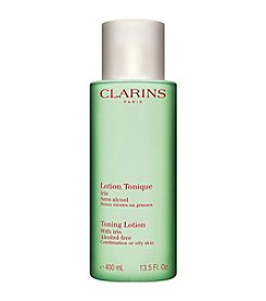 Clarins Toning Lotion With Iris For Oily Or Combination Skin Luxury Size 13.5-oz. (A $50 Value)