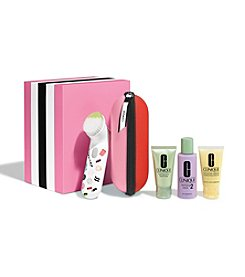 Clinique Sweet Sonic Brush Gift Set For Drier Skins (Skin Type I/II) (A $124 Value)