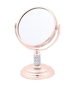 Rose Goldtone Crystal Mini Mirror