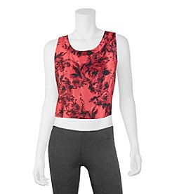 A. Byer Floral Crop Top