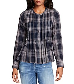 William Rast® Fairah Plaid Blouse