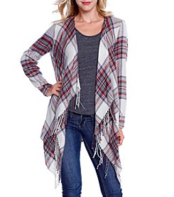 Skylar & Jade™ Plaid Blanket Cardigan