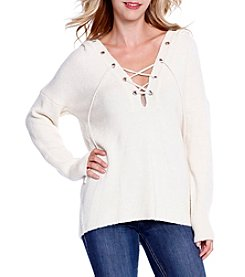 Skylar & Jade™ Lace Up Sweater