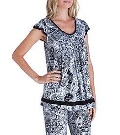 Ellen Tracy® Knit Flutter Sleeve Top