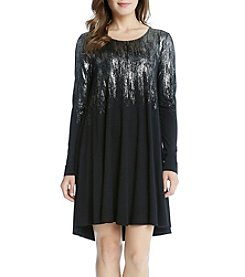 Karen Kane® Metallic Maggie Dress