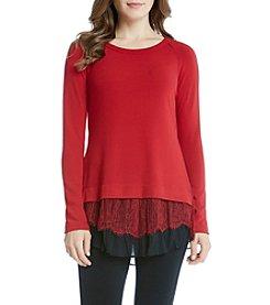 Karen Kane® Lace Inset Sweater