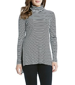Karen Kane® Stripe Turtleneck Neck Hilo Top
