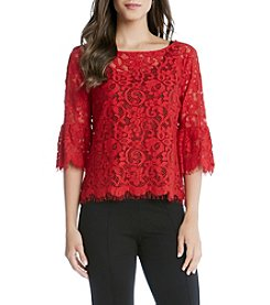 Karen Kane® Flare Sleeve Lace Top