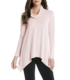 Karen Kane® Funnel Neck Handkerchief Top