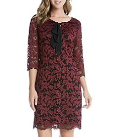 Karen Kane® Lace Tie Neck Dress