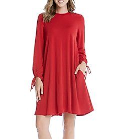 Karen Kane® Tie Sleeve Swing Dress