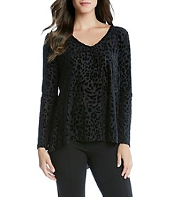Karen Kane® Cheetah Burnout Top