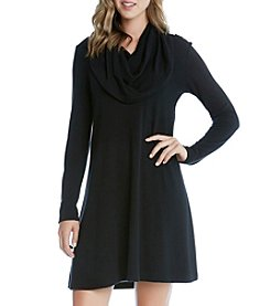 Karen Kane® Cowl Neck Trapeze Dress