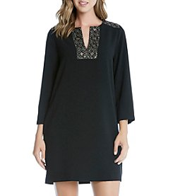 Karen Kane® Embellished Shift Dress