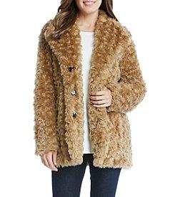 Karen Kane® Camel Faux Fur Jacket