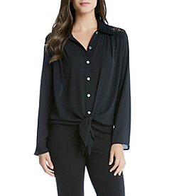 Karen Kane® Front Lace Yoke Top
