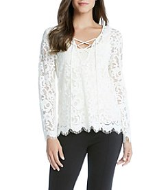 Karen Kane®  Lace Up Bracelet Top