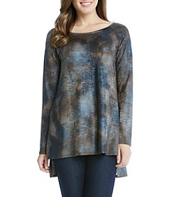 Karen Kane® High-Low Raglan Short Sleeve Top