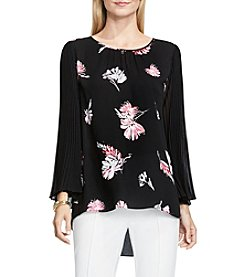 Vince Camuto® Floral Signature Pleated Sleeve Top
