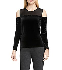 Vince Camuto® Sheer Yoke Cold Shoulder Top