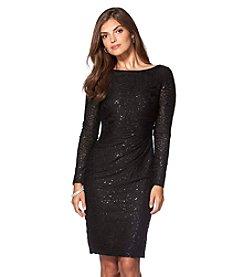 Chaps® Sequin Lace Dress