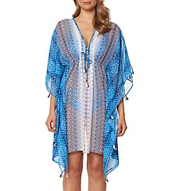 Bleu|Rod Beattie® Twin Print Caftan Coverup
