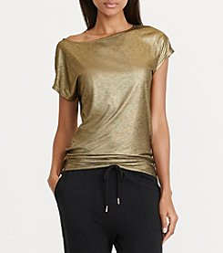Lauren Ralph Lauren® Metallic Knit shirt