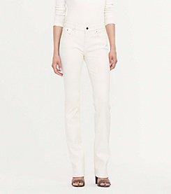 Lauren Ralph Lauren® Petites' Coated Straight Jeans