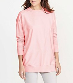 Lauren Ralph Lauren® Petites' Twill-Front Silk-Blend Sweater
