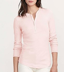 Lauren Ralph Lauren® Petites' Cotton Half Zip Shirt