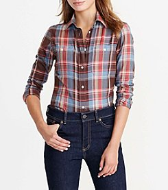Lauren Ralph Lauren® Petites' Plaid Cotton Twill Shirt