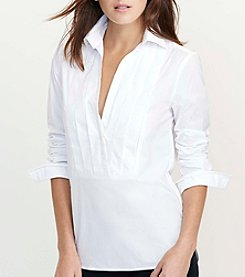 Lauren Ralph Lauren® Petites' Pleated Front Cotton Tunic