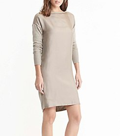 Lauren Ralph Lauren® Petites' Twill-Front Sweater Dress