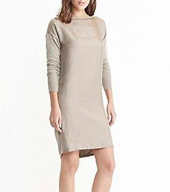 Lauren Ralph Lauren® Petites' Twill-Front Sweater Dress