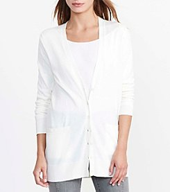 Lauren Ralph Lauren® Petites' Stretch Cotton Cardigan