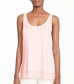 Lauren Ralph Lauren® Petites' Sheer-Hem Jersey Tank