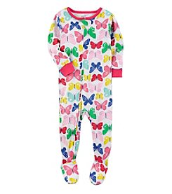 Carter's® Baby Girls' One-Piece All Over Butterflies Sleeper