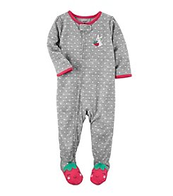 Carter's® Baby Girls' One-Piece Strawberry Sleeper