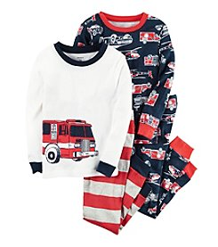 Carter's® Boys' 9M-12 4-Piece Firetruck Pajama Set