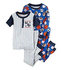 Carter's® Boys' 12M-12 4-Piece All-Star MVP Pajama Set