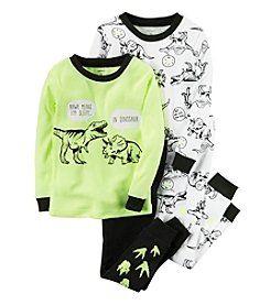 Carter's® Boys' 9M-12 4-Piece Sleepy Dinos Pajama Set