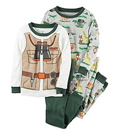 Carter's® Boys' 9M-12 4-Piece Safari Pajama Set