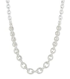 Anne Klein® Pave Frontal Necklace