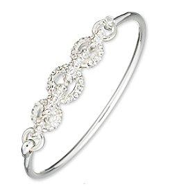 Anne Klein® Pave Bangle Bracelet