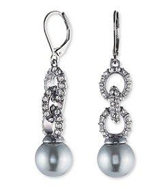 Anne Klein® Gray Pearl Drop Earrings