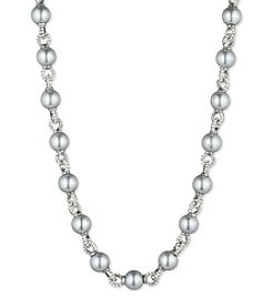 Anne Klein® Gray Pearl Necklace