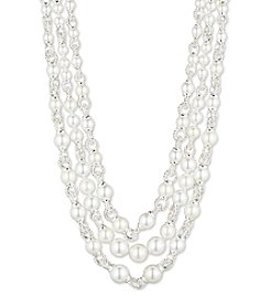 Anne Klein® Pearl Drama Collar Necklace